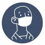 Man wearing mask icon