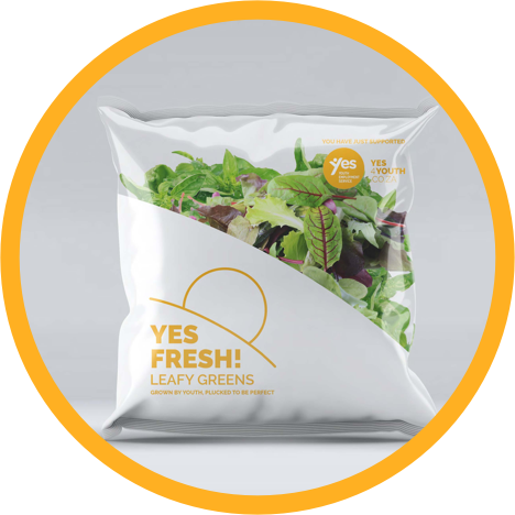 YES Fresh packet of leafy greens